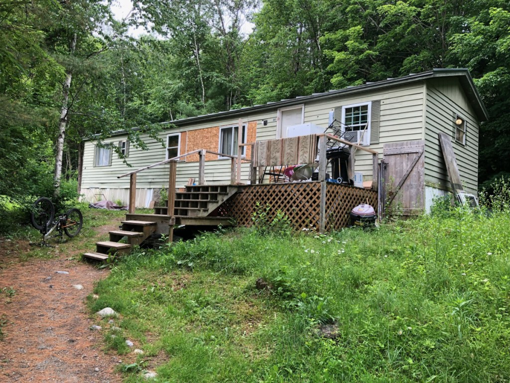 The home at 44 Joyce St., Skowhegan, where police say a man was shot in the head with a pellet gun on Sunday.