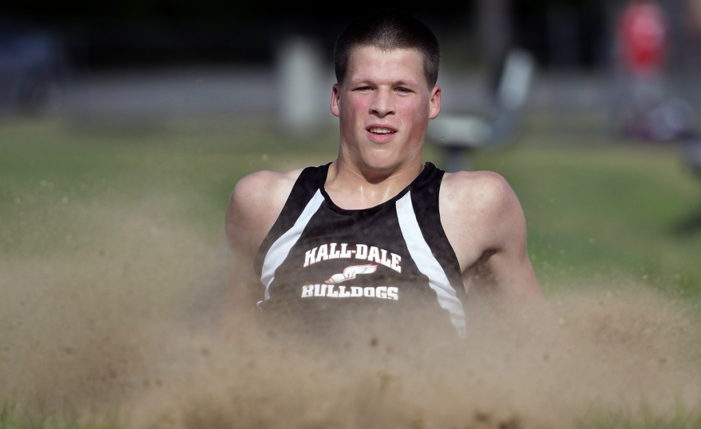 Matt Albert of Hall-Dale is the Kennebec Journal Boys Track and Field Athlete of the Year.