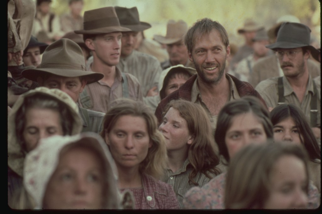 """David Carradine stars as the young Woody Guthrie in Hal Ashby's Oscar-winning """"Bound for Glory."""""""