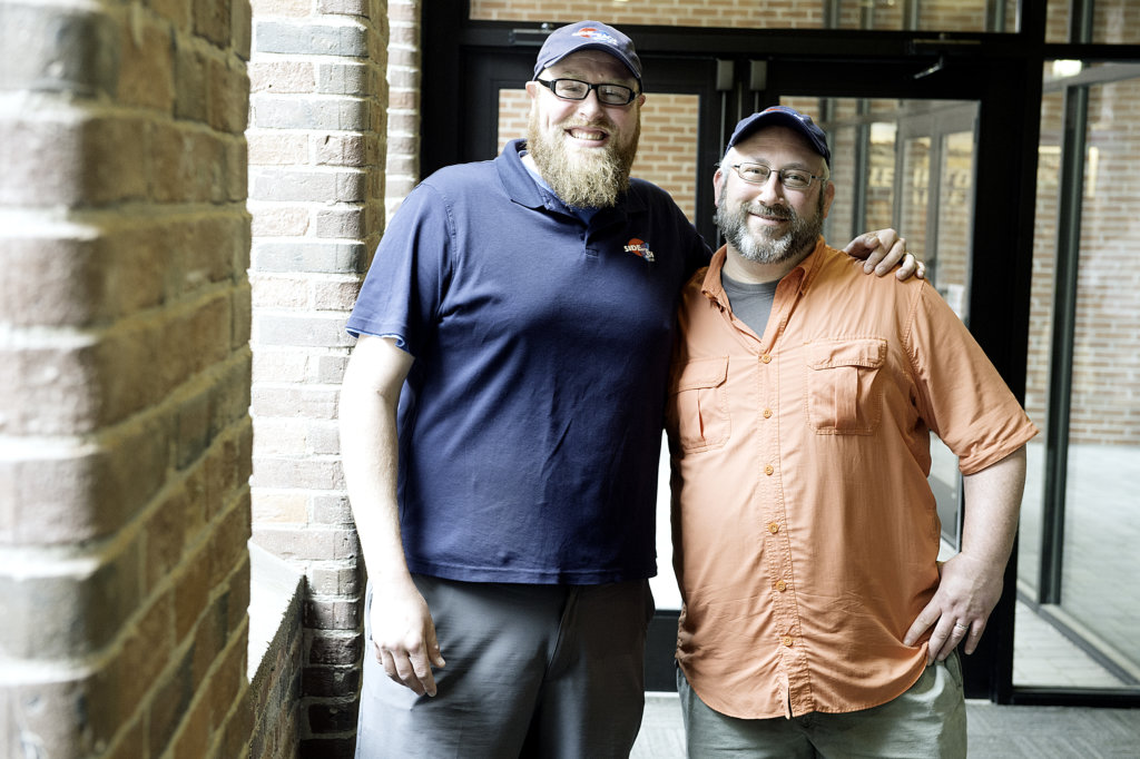 Matt Johannes, left, and Ben Low, owners of the new Side By Each Brewing Co. opening later this year in Auburn.