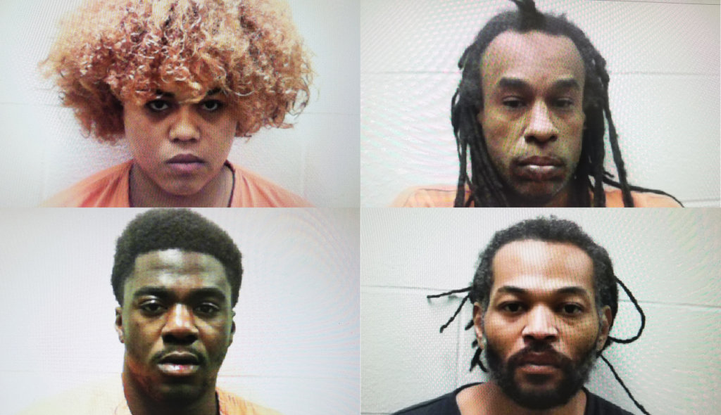 Autumn Jade Johnson, clockwise from top left, Albert Robertson, Dashane Seamster and Johnny Walker.
