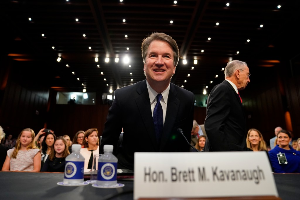 Supreme Court nominee Brett Kavanaugh arrives at the Senate Judiciary Committee on Capitol Hill, Tuesday, Sept. 4, 2018, in Washington, to begin his confirmation hearing to replace retired Justice Anthony Kennedy.