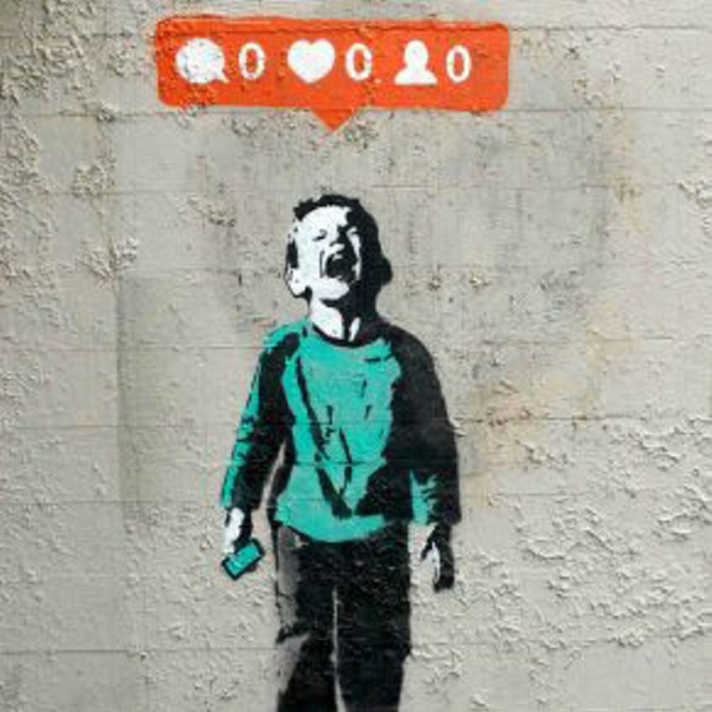 """Banksy image """"Blog and the city"""""""