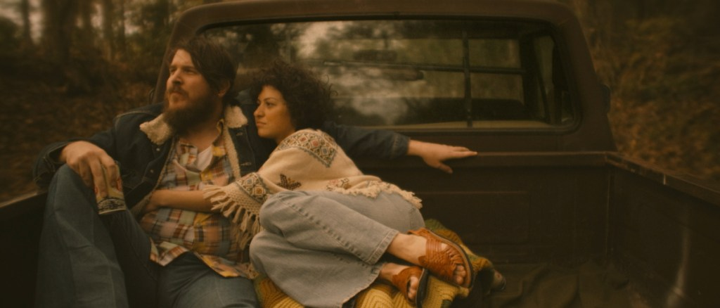"Photo courtesy of IFC Films   Ben Dickey as Blaze Foley, and Alia Shawkat as Sybil Rosen in Ethan Hawke's ""Blaze."""