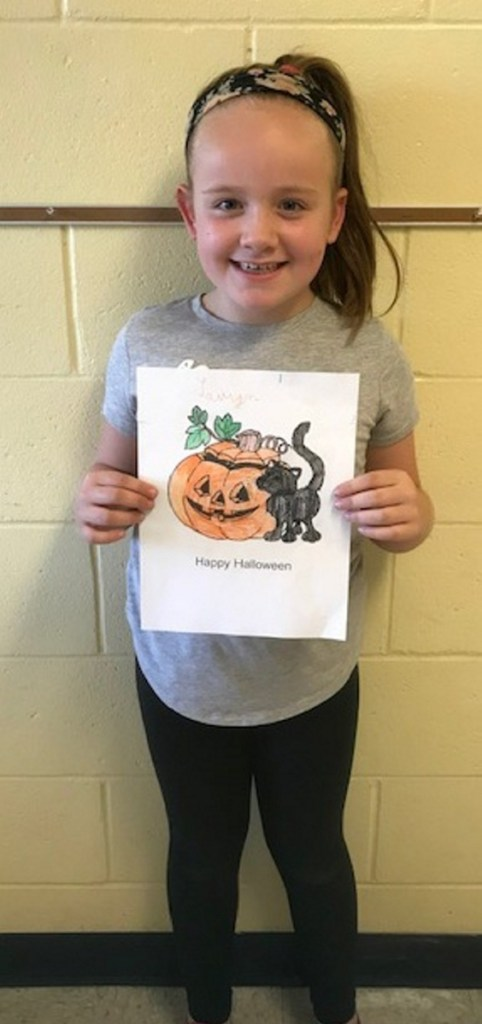 Lauryn Richard, of Belgrade, placed first in the children 6-8 years old category of the Friends of the Belgrade Public Library's annual coloring contest.