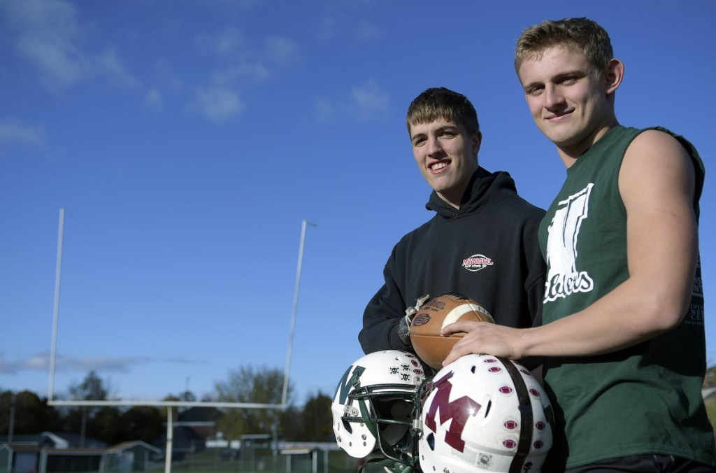 Winthrop's Evan Burnell, right, and Jevin Smith have been big reasons why the Ramblers are in the playoffs this season.
