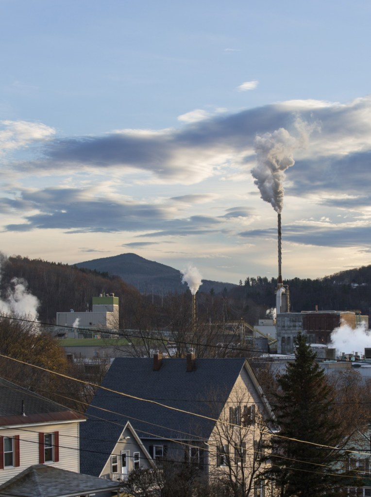 The Rumford mill, as seen in 2016 from Mexico, Maine, across the Androscoggin River. Last week ND Paper, a subsidiary of Hong Kong-based Nine Dragons Paper, announced plans to invest $111 million to boost efficiency at its Rumford mill.