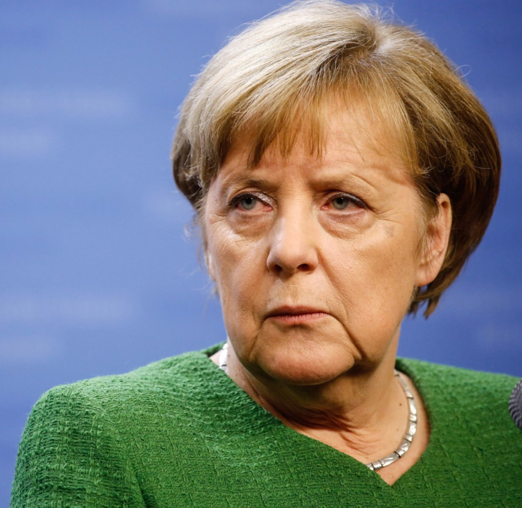 German Chancellor Angela Merkel, who has been in office for nearly 13 years, said during a news conference Monday that she would give up the leadership of her Christian Democratic Union at a party congress in December.