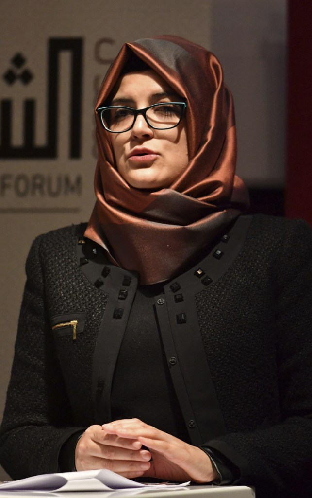 Hatice Cengiz, the fiancee of Jamal Khashoggi, urges Trump to 'help reveal' the truth behind Khashoggi's murder.