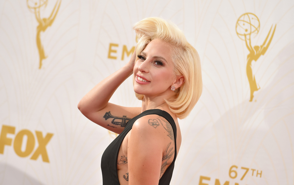 "Lady Gaga thanked her ""fiance"" Christian Carino as she finished a speech Monday night."
