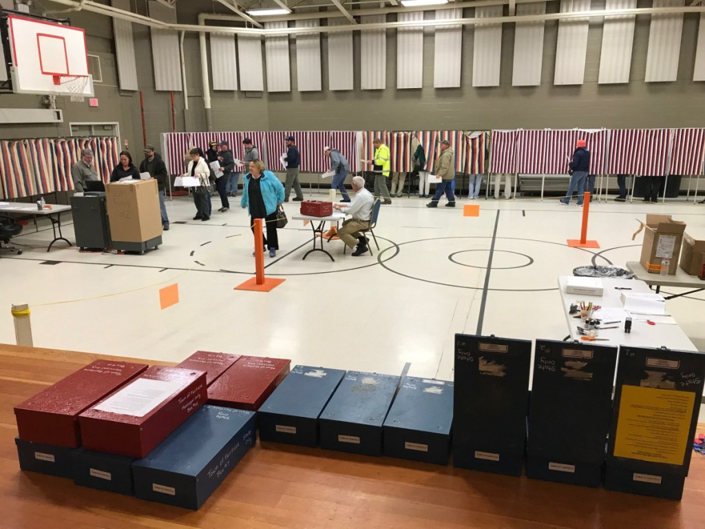 """Fairfield Town Clerk Christine Keller said voting Tuesday was """"nonstop"""" at the Fairfield Community Center."""