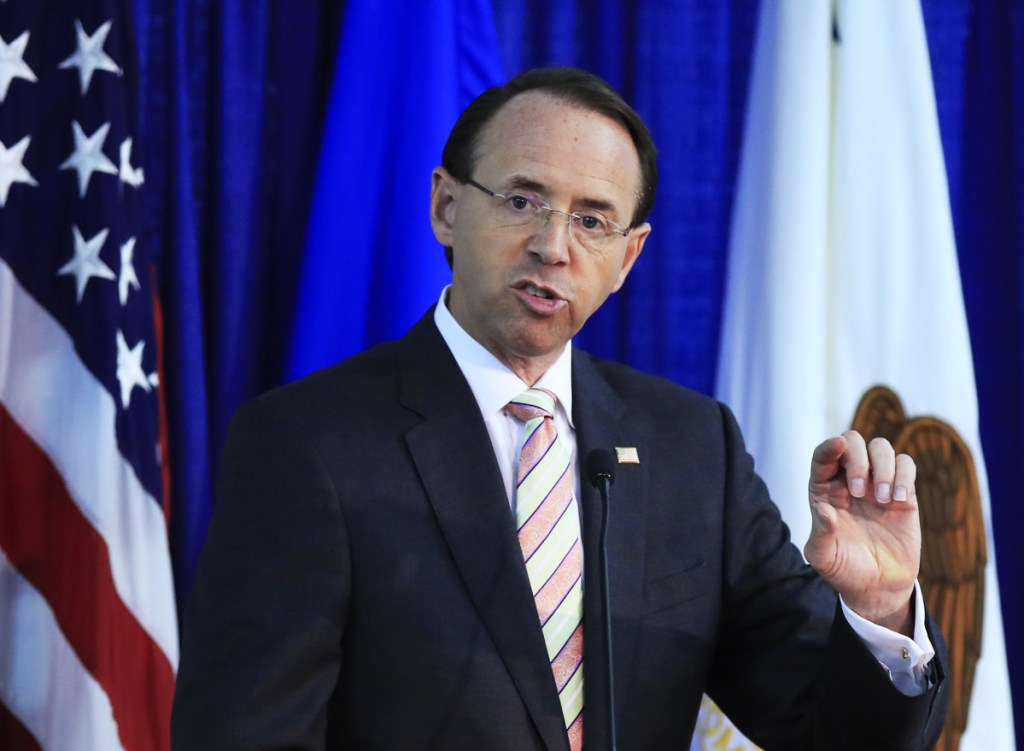 """""""The Chinese government has the ability to stop (labs from selling fentanyl online) if they want to,"""" says Deputy Attorney General Rod Rosenstein."""