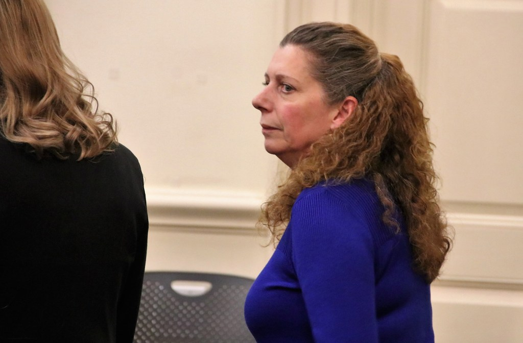 Carol Sharrow pleaded not guilty and not criminally responsible Friday in York County Superior Court to 15 charges in connection with the hit-and-run death of a man at a Sanford ball field in June.