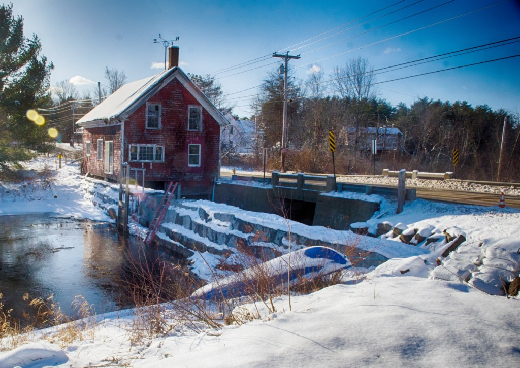 The Clary Lake Dam is seen Dec. 18 in Whitefield.