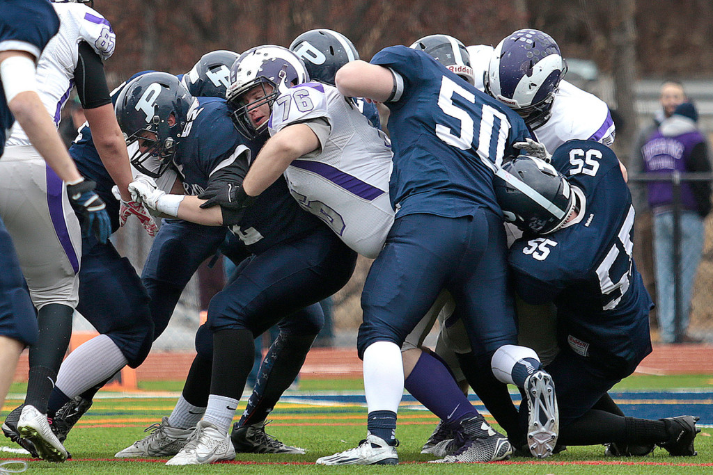 Should Portland's high school football teams be combined? That was the question for about 80 people at a community meeting Thursday night. Parents connected with Deering High generally said yes. Those who identified themselves as being from Portland High tended to disagree.