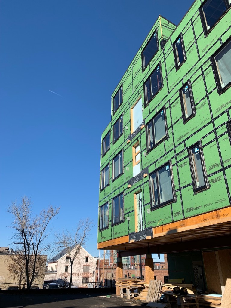 Occupancy at Parris Terraces is planned to begin in mid-May.
