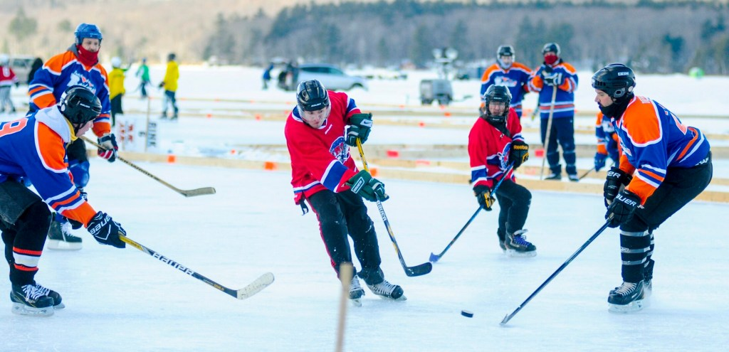 Maine Pond Hockey Classic Players Brave Wind Cold Pregnancy On Ice