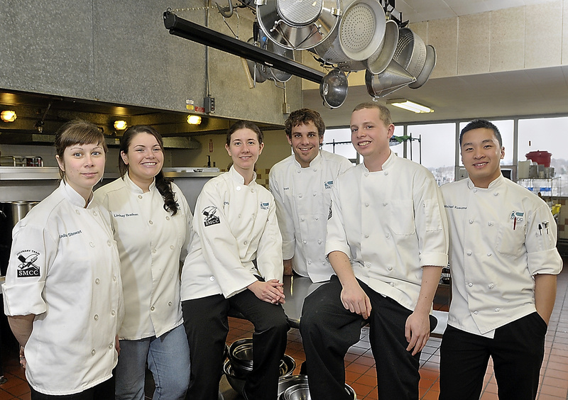 Team picture: Representing Southern Maine Community College at the Northeast Region Baron H. Galand Culinary Knowledge Bowl in Hershey, Pa., are, from left, Lindsey Stewart, Lindsay Bradeen, Crystal Cassette, Brett Cary, Nick Ault and Michael Kusuma.