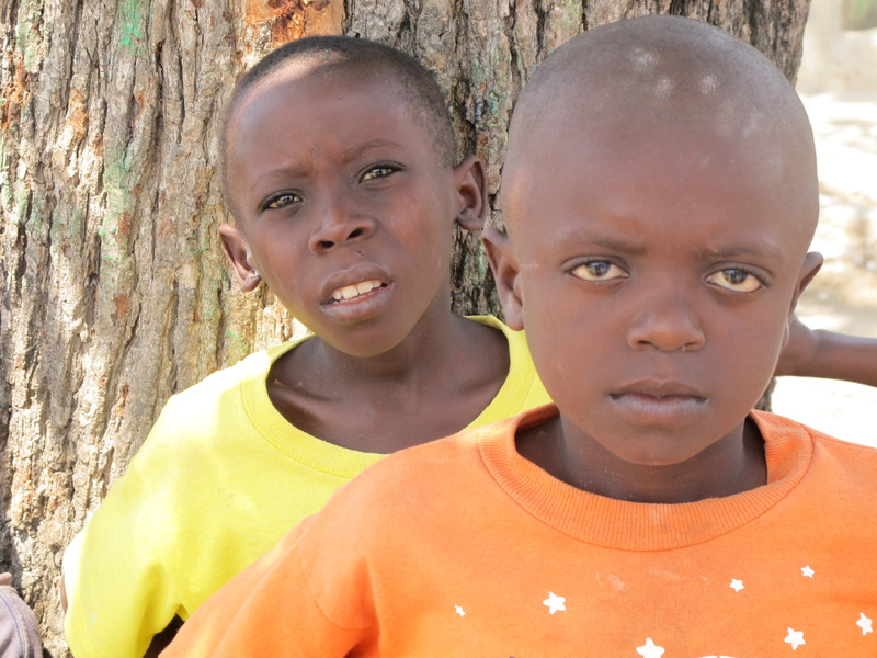 Douyon Roberson, left, and Phillipe Juste are two of the almost 800 orphans living at Hope Village.
