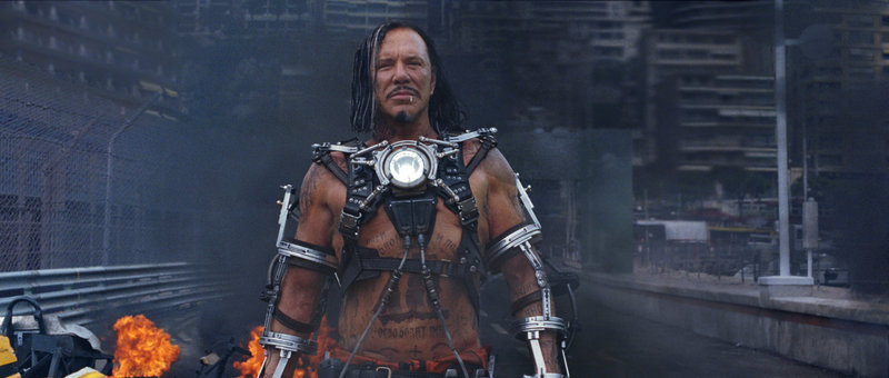 "Mickey Rourke stars as the villainous Ivan Vanko, alias Whiplash, in ""Iron Man 2."" Vanko has it in for wealthy industrialist Tony Stark (aka Iron Man, played by Robert Downey Jr.) and Stark's family."