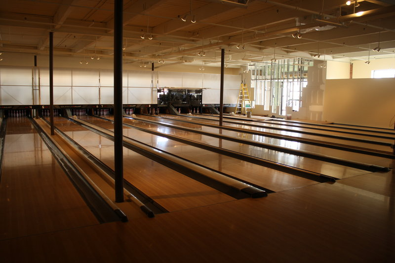 Bayside Bowl on Alder Street in Portland will feature 12 lanes, a bar and live music when it opens later this month or early June.