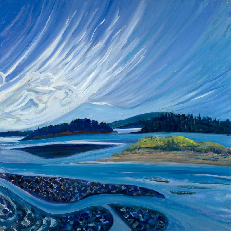 """Painter Brita Holmquist will be at a reception Thursday celebrating the opening of her new solo show, """"The Lonely Sea and the Sky,"""" at Elizabeth Moss Galleries in Falmouth."""