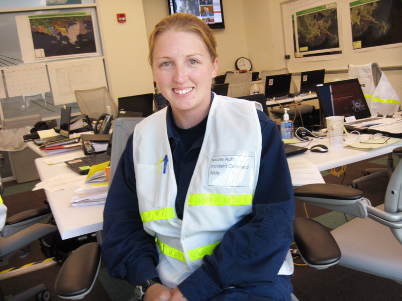 USCG Lt. Nicole Auth, grew up in Lamoine