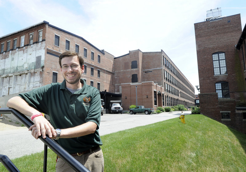 Luke Livingston is founder and president of Baxter Brewing Co. in Lewiston. He is renovating space on the left side in this mill building on Mill Street in Lewiston for his new brewery, which he hopes will be up and running this fall.