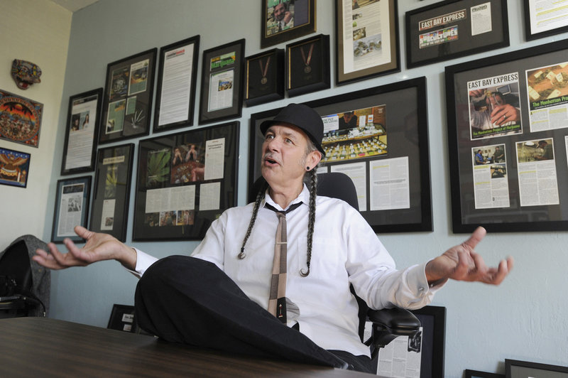 Steve DeAngelo, the founder of Harborside Health Center in Oakland, Calif., with his fedora and braids, is one of northern California's most recognizable cannabis celebrities.