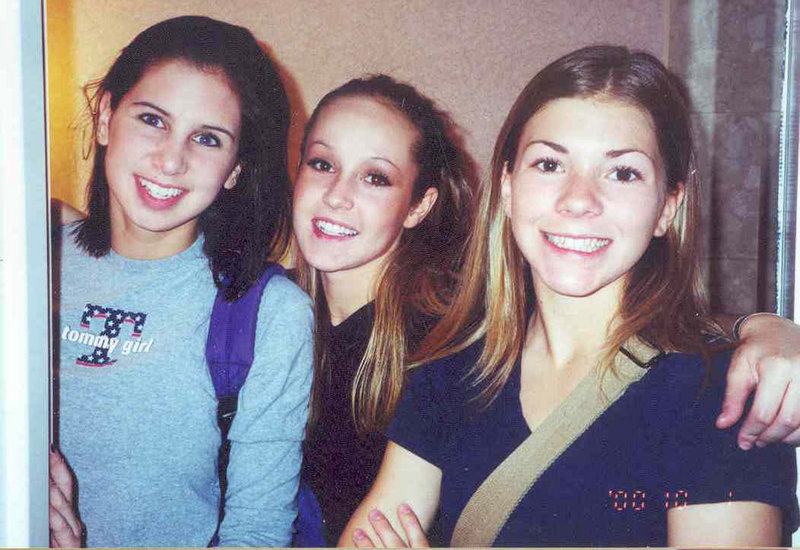 This photo taken at DanceQuest in Saint John, New Brunswick, in October 2000 shows, from left, Alison Levesque Danielson, Ashley Hebert and Lynel Winters.