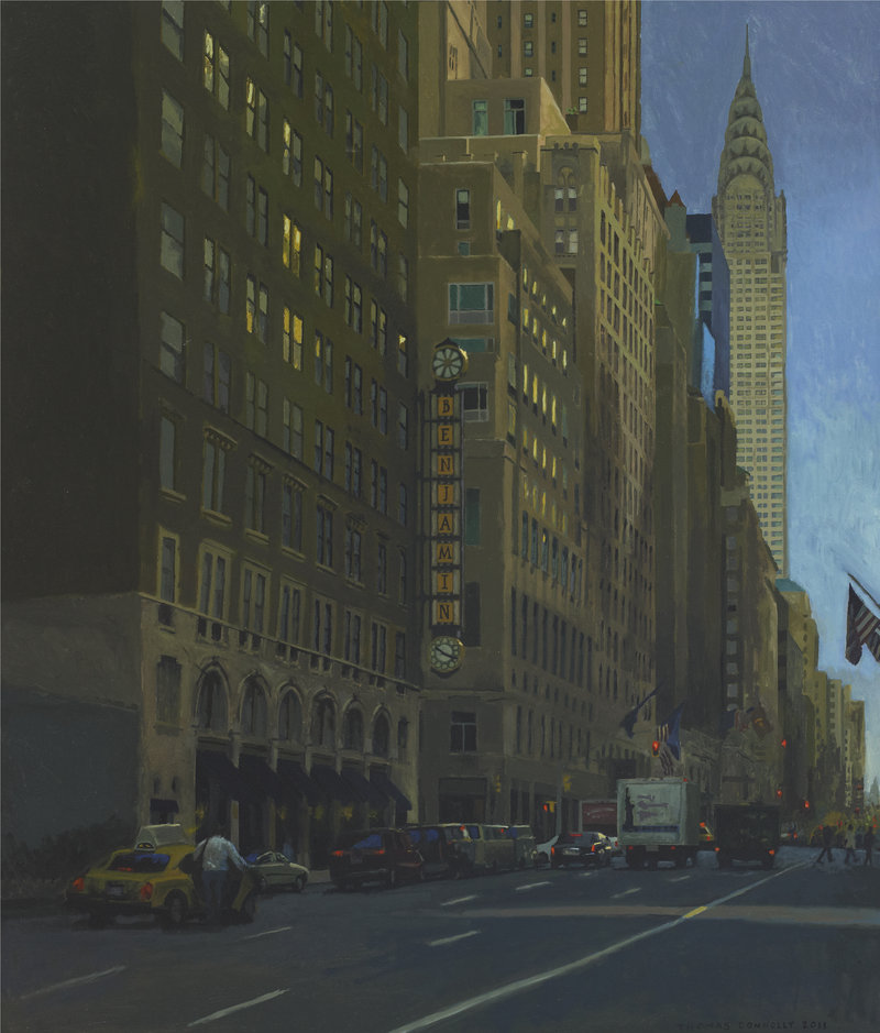 """Thomas Connelly's oil on panels """"Benjamin Hotel"""""""