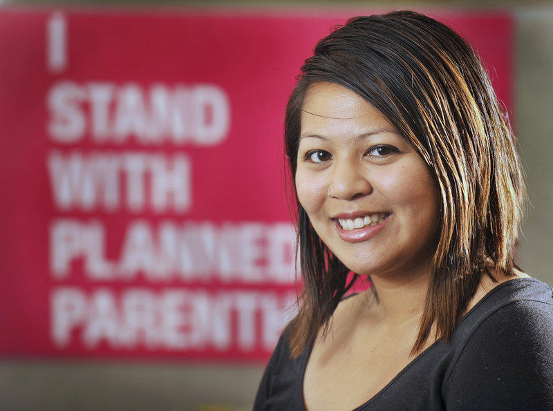 """Jenna Vendil, 26, is an organizer with Planned Parenthood and also serves on Portland's school board. """"As young people, we have a responsibility to make sure that the work we do now has a lasting impact,"""" she says."""