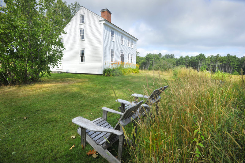 This 1810 saltbox is the centerpiece of Pettengill Farm in Freeport. A dig led by local archaeologist Peter Morrison started Monday about a quarter-mile from the homestead.