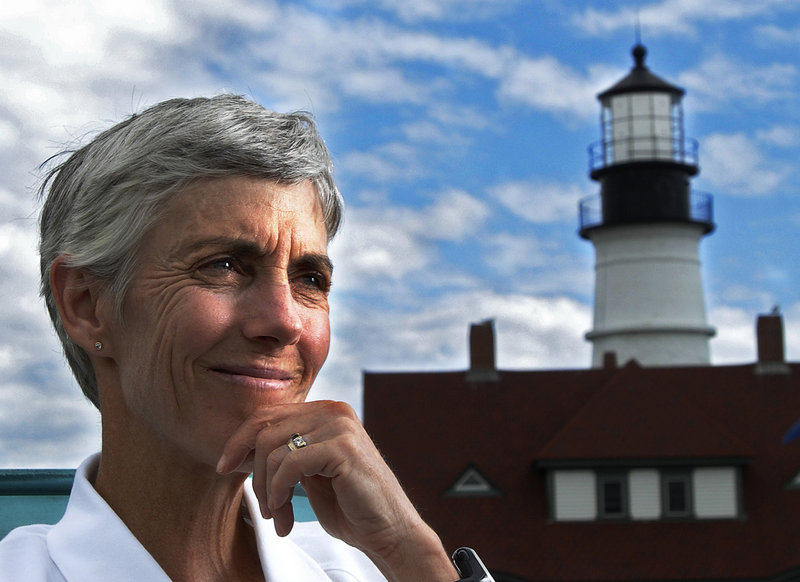 """Joan Benoit Samuelson seems to be constantly on the go, running in road races and tending to business and family responsibilities all over the world. But with September on the way, """"Now I'm looking forward to spending one of my favorite months in this state,"""" she says."""