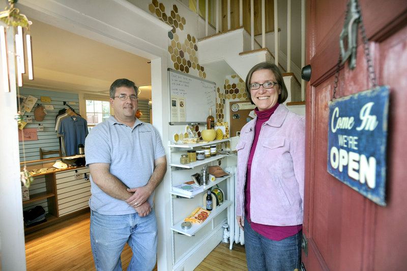 Phil and Meghan Gaven sell lots of items besides honey at The Honey Exchange.