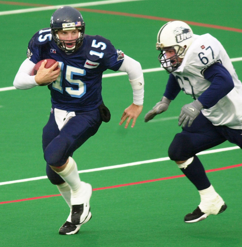 Jon Meczywor got the start at QB for Maine when it beat New Hampshire to end the 2002 regular season, then directed the Black Bears to a comeback victory at Appalachian State in the NCAA playoffs.