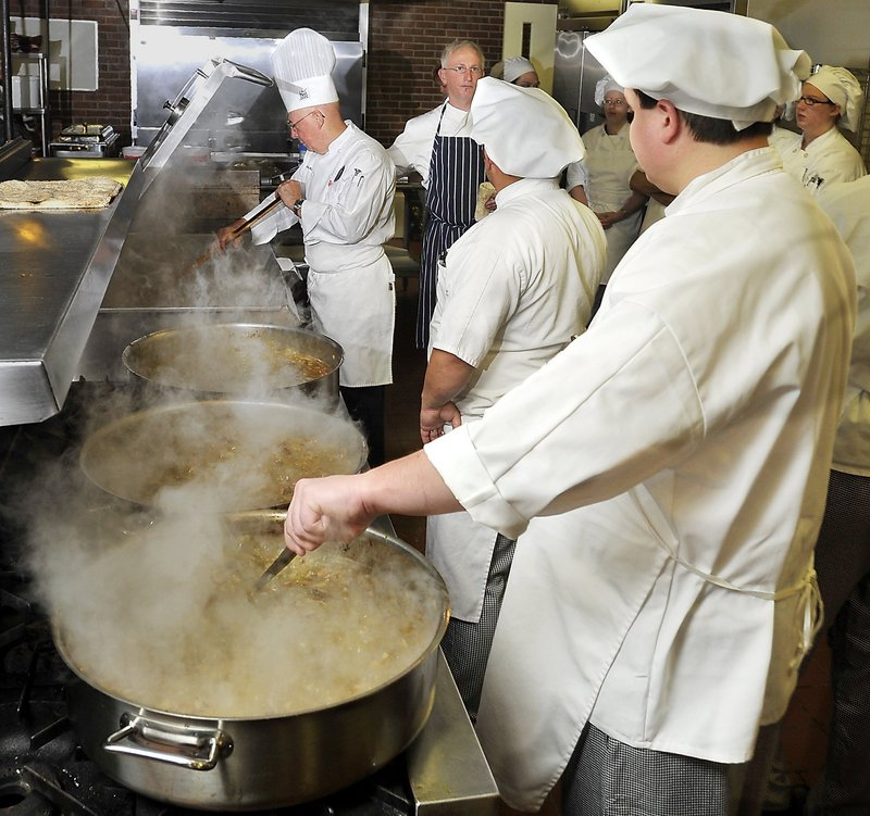 Culinary arts students at Southern Maine Community College learn to make gumbo. Most restaurant chefs aren't paid enough, a writer says.