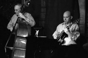 BASSIST Herb Maine and guitarist Dave Clarke, both of Novel Jazz, play a duet. The Novel Jazz Septet will play classic jazz at Skidompha Public Library in Damariscotta at 7 p.m. Thursday.