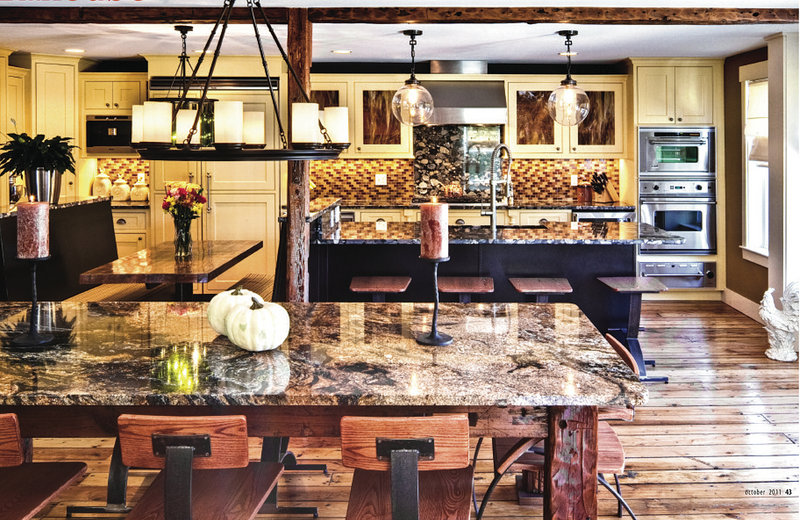 An overview of the Westbrook kitchen of Tina and Erik Richardson shows a space full of stunning, attractively coordinated details. But the kitchen is also highly functional, boasting features such as a Viking range, double ovens and a beverage cooler.
