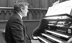 SEAN FLEMING will perform an organ recital at 4 p.m. Sunday at The Episcopal Church of St. John Baptist in Thomaston to benefit the church's outreach program.