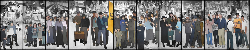 """This mural depicting the history of Maine's labor movement should be returned to the Maine Department of Labor headquarters in Augusta, where it can serve as a reminder that """"this country was built by human labor and intelligent thought,"""" a reader says."""