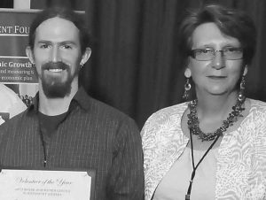 CHARLIE HUDSON and Elizabeth Knowlton were recently honored at the Maine Downtown Center annual conference.