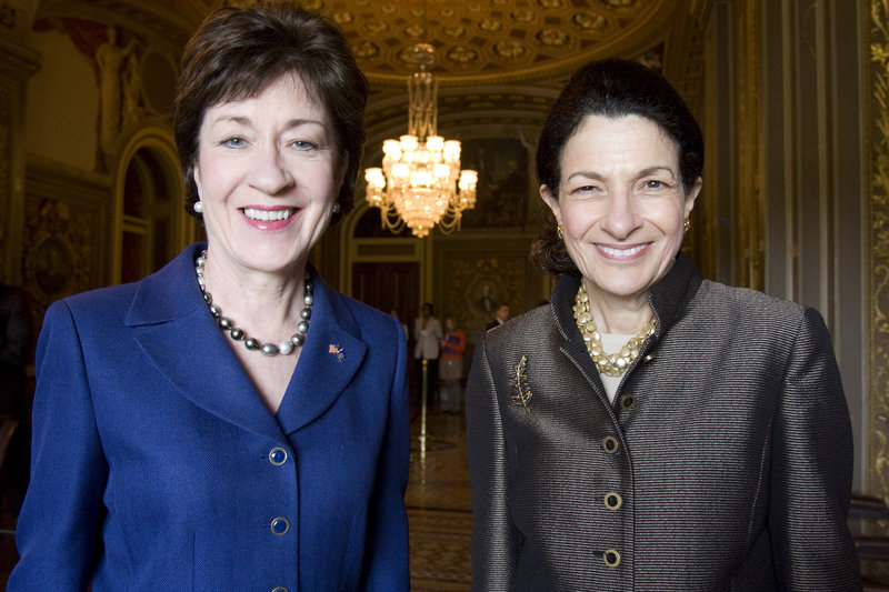 """Maine Sens. Susan Collins, left, and Olympia Snowe voted twice last week to kill a bill that, a Maine Voices writer says, """"would put more information in the hands of voters."""""""