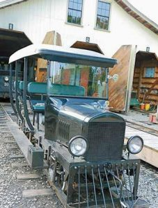 AN ANTIQUE passenger rail carwill be available for rides Saturday during the annual Fall Festival at Woolwich, Wiscasset and Farmington Railway Museum. Festivities will be held at the old Sheepscot station, at left, in Alna.