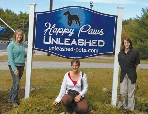 HAPPY PAWS @ UNLEASHED is located in Topsham.