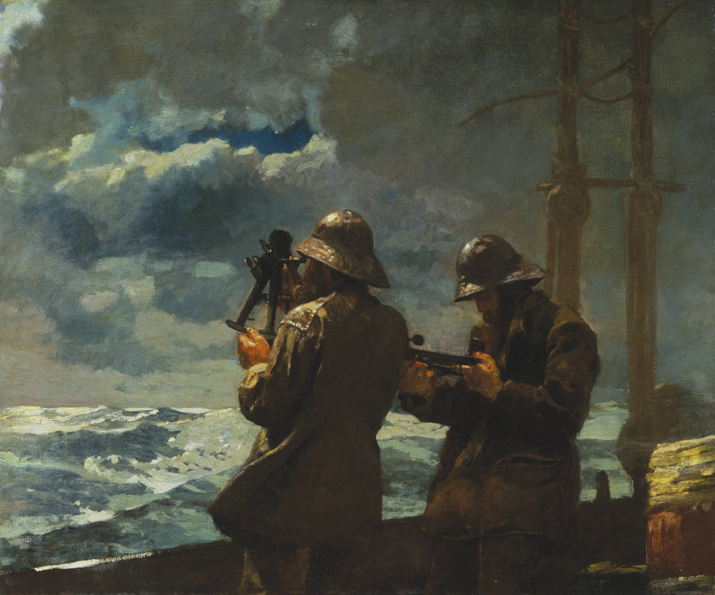 "Winslow Homer's painting ""Eight Bells,"" an 1886 oil on canvas, is among the works included in Portland Museum of Art's exhibition titled ""Weatherbeaten: Winslow Homer and Maine."""