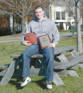 BATH NATIVE Alex Kee is a senior point guard for the University of Southern Maine men's basketball squad. He is shown here at the Portland campus.