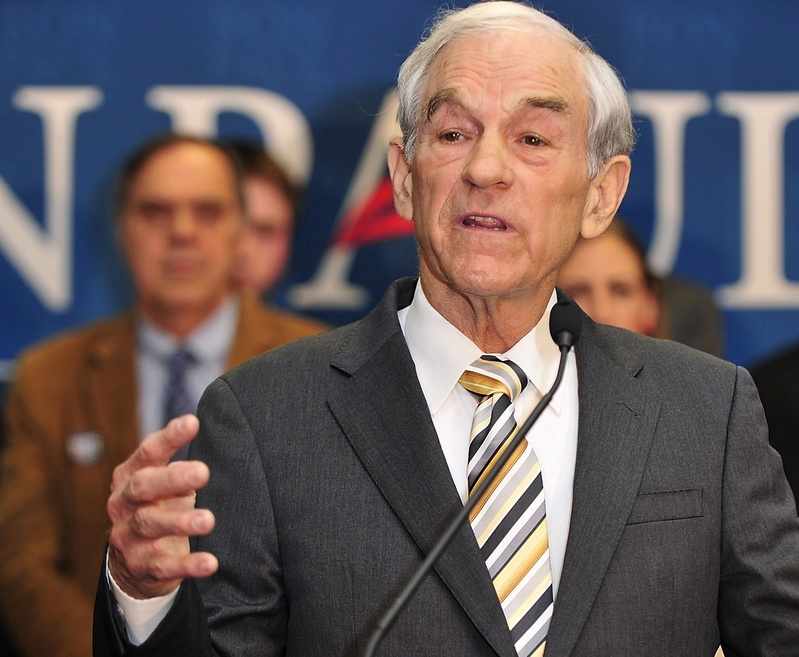 """Ron Paul talks to supporters in Portland on Feb. 11 after coming in second to Mitt Romney in the Maine Republican presidential caucuses. The """"liberty movement,"""" combining elements of the leftover Paul network in Maine with new supporters, has been focusing its efforts on boosting candidates in legislative and local races."""