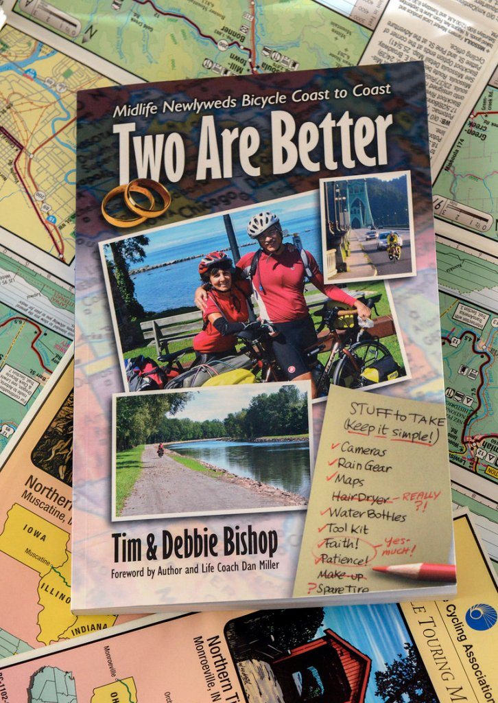 """Tim and Debbie Bishop wrote """"Two Are Better"""" about their 3,529-mile trek and their new marriage."""