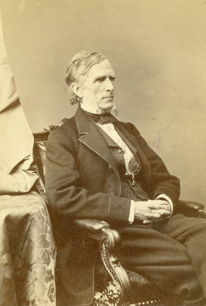 A photo of William Pitt Fessenden made during the 1860s by the famous Civil War photographer Matthew Brady.